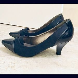 "3/$33 Tradition ""Cameron"" Navy Pumps"
